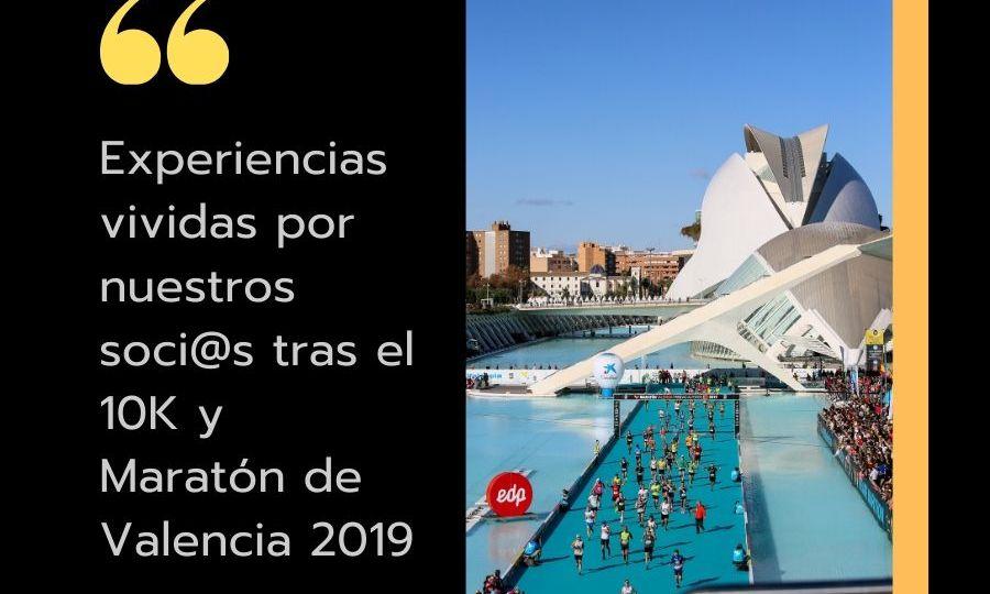 Experiencias vividas tras el 10K y Maratón de Valencia 2019 (1)