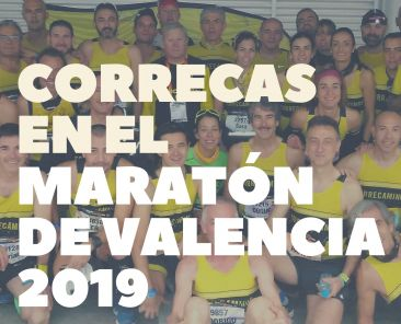 correcas en el maratón de valencia 2019