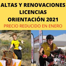 LICENCIAS ORIENTACION 2021